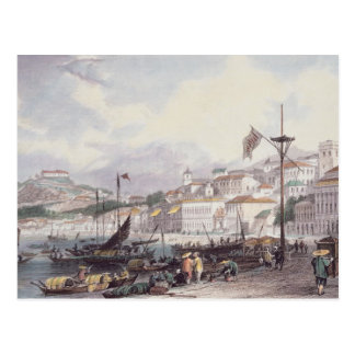 Pria grande, Macao, c.1850 (litho del color) Postal
