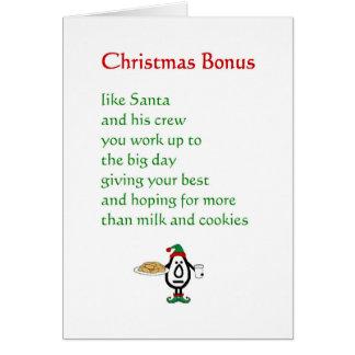 Prima de navidad - un poema divertido del navidad tarjetón