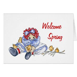 Primavera agradable - tarjeta
