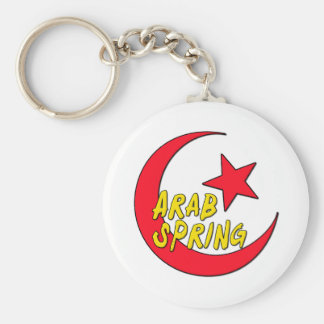 Primavera árabe llavero redondo tipo chapa