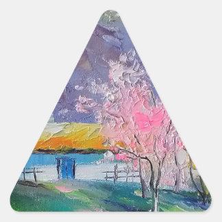 Primavera Crimea Pegatina Triangular