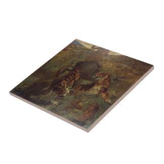 Primavera de Enrique de Lautrec- Allegory de la vi Teja Cerámica