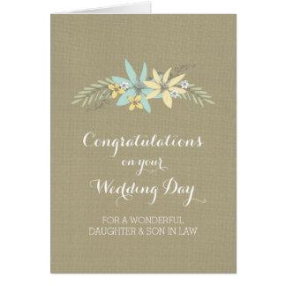 Primavera de la enhorabuena del yerno de la hija tarjeta de felicitación