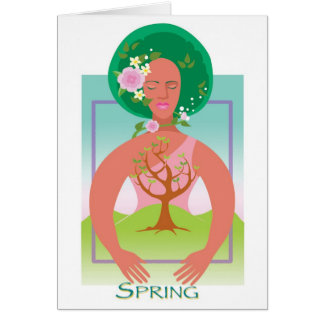 Primavera de la tierra de madre tarjeta