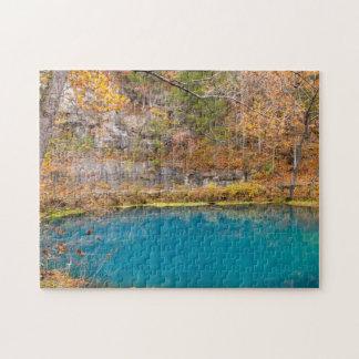 Primavera del azul de los callejones puzzle