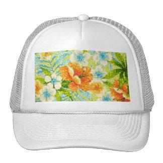 primavera del Chispa-efecto floral Gorros Bordados