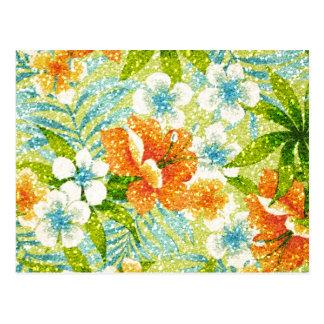primavera del Chispa-efecto floral Postal