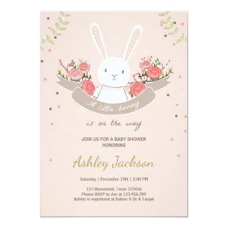 Primavera del conejo de la invitación de la fiesta