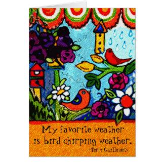 Primavera del verano de los pájaros de la tarjeta