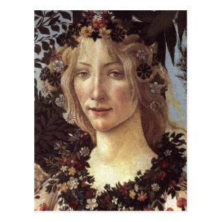 Primavera (detalle - flora, diosa de la primavera) postal
