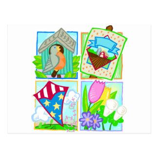 Primavera/diseño estacional del verano postal
