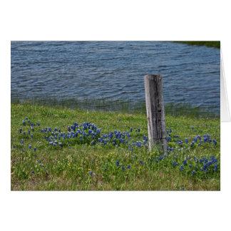 Primavera en la tarjeta de nota del país