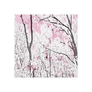 Primavera en rosa lienzo