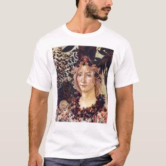 Primavera, flora del detalle, Botticelli C. 1482 Camiseta