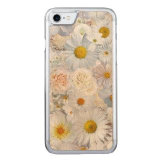 Primavera nupcial del boda floral del ramo de las funda para iPhone 7 de carved