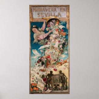"""""""Primavera poster del arte del vintage del en"""