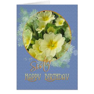Primaveras del feliz cumpleaños de la hermana tarjeta de felicitación