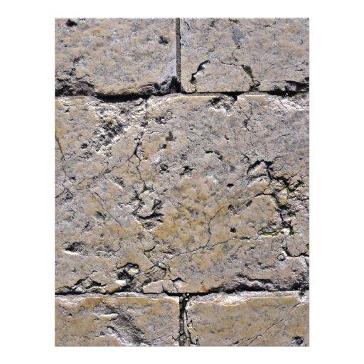 Primer agrietado de la pared de piedra flyer personalizado