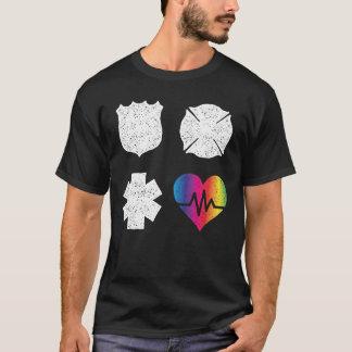 Primer amor del corazón del pulso de los camiseta