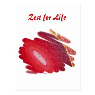 Primer ánimo de los espirales del rojo de Chakra p Postal