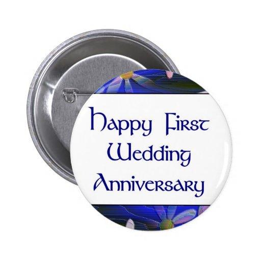Primer aniversario de boda feliz pins