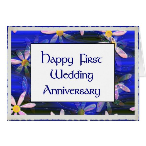Primer aniversario de boda feliz felicitación