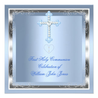 Primer azul 2 de la plata de la comunión santa del