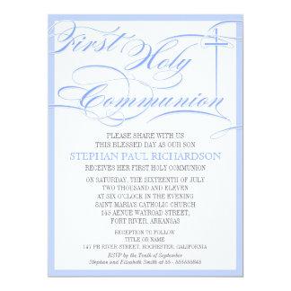 Primer azul de la invitación de la comunión del