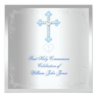 Primer azul de la plata de la comunión santa del comunicado