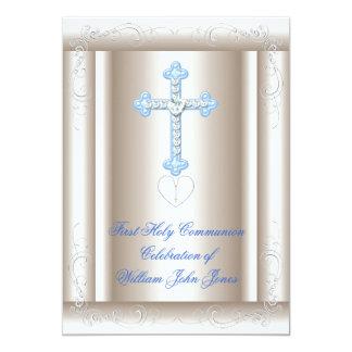 Primer azul de la sepia de la comunión santa del anuncios
