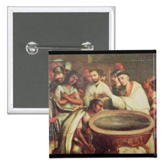 Primer bautismo de los indios de los Dominicans Chapa Cuadrada 5 Cm