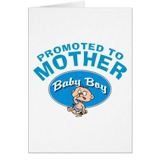 Primer bebé de la nueva madre divertida tarjeta de felicitación