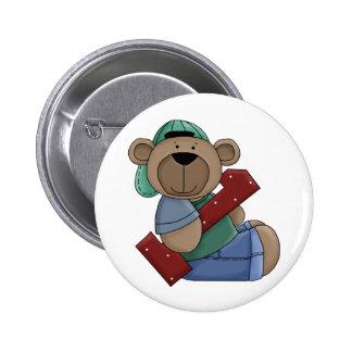 Primer botón del Pin del oso del cumpleaños