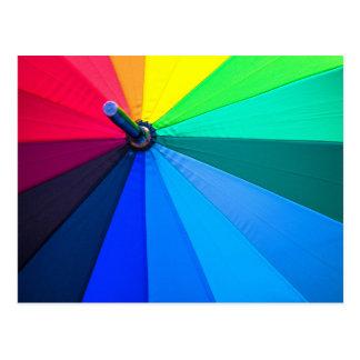 Primer colorido del paraguas postal
