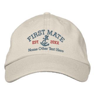 Primer compañero con el ancla personalizada gorra bordada