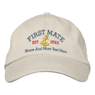 Primer compañero con el ancla personalizada gorras de béisbol bordadas