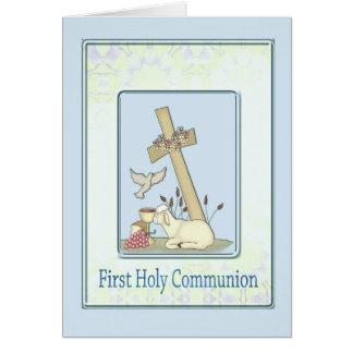 Primer cordero de la comunión santa tarjetón