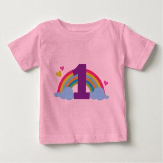 Primer cumpleaños de las nietas camiseta de bebé
