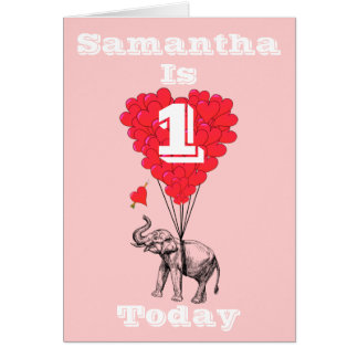 Primer cumpleaños personalizado tarjeta de felicitación