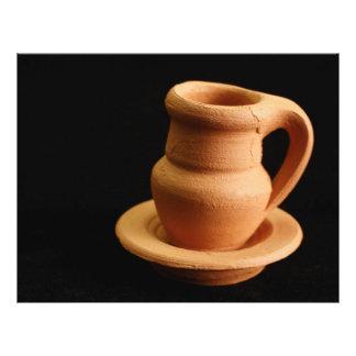 Primer de la cerámica folleto 21,6 x 28 cm