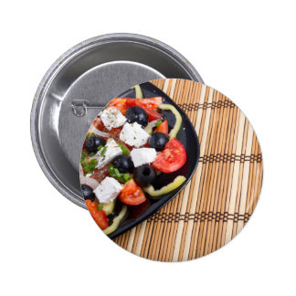 Primer de la ensalada de las verduras frescas chapa redonda de 5 cm