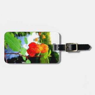 Primer de la flor del Jewelweed Etiquetas Para Maletas