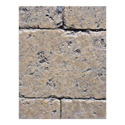 Primer de la pared de ladrillo de piedra resistida tarjetas informativas