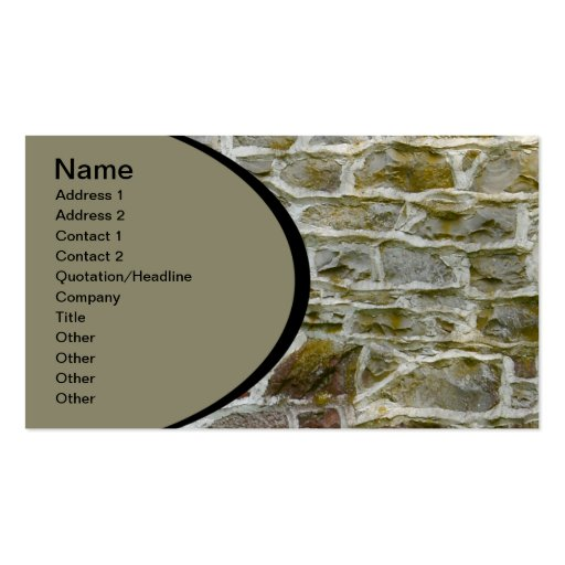 primer de la pared de piedra y del mortero tarjeta personal