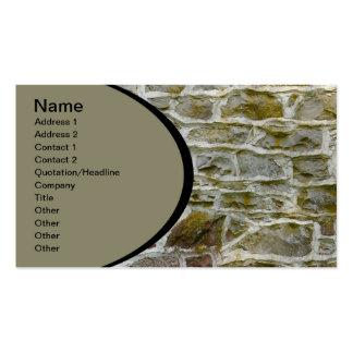 primer de la pared de piedra y del mortero tarjetas de visita