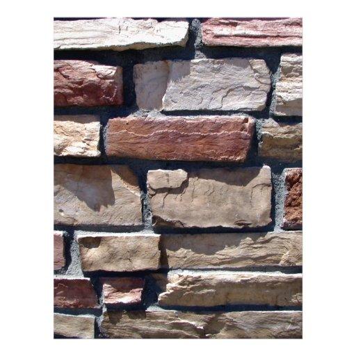 Primer de la piedra y de la pared de ladrillo flyer personalizado