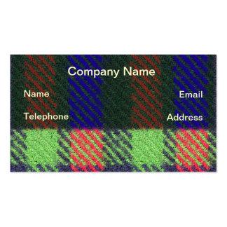 Primer de la tela en colores brillantes tarjeta de visita