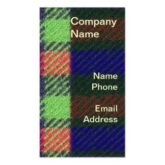 Primer de la tela en rojo, verde y azul tarjeta de visita