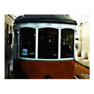 Primer de la tranvía de Lisboa Postal