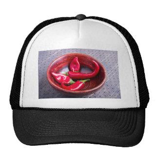 Primer de la visión en las pimientas de chile rojo gorra
